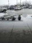 The ground is still frozen solid.